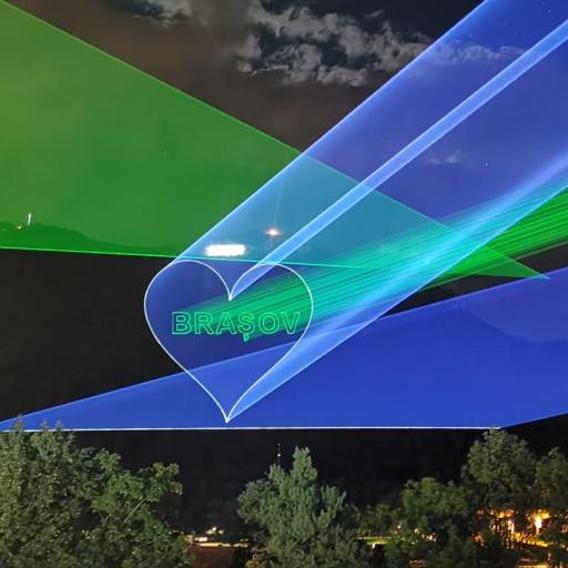 Proiectie lasere pe Tampa